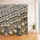 3D close-up pineapple skin Bedroom Waterproof Fabric Shower Curtain & 12 Hooks
