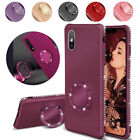 For Apple iPhone XS XS Max XR Bling Glitter TPU Cover Diamond Case Crystal Ring