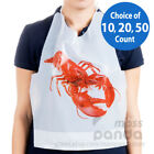 Внешний вид - Royal Disposable Adult Size Poly Lobster Bibs with tie, Lightweight High Quality