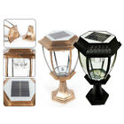 Outdoor Exterior Solar Powered LED Pillar Light Post Lamp Garden Yard Lantern US