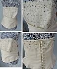 Berketex Wedding Separate Bridal Ivory Bodice Beaded Strapless Sweetheart Corset