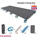 Ultralight Compact Folding Camping Bed Aluminium Alloy Tent Cot Bed With Bag