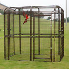 Large Bird Cage Walk in Iron Aviary Heavy Duty Pet Parrots Poultry House New