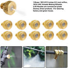 "0.012"" 10/24 UNC Brass Misting Nozzles Water Mister Sprinkler For Cooling System"