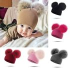 Warm Winter Baby Toddler Girls Boys Hat Infant Knit Beanie Crochet Ski Ball Cap