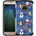 For Motorola Moto E4 PLUS Case Hybrid Phone Cover Christmas Xmas Holiday Design