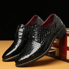Mens Oxfords Leather Shoes Crocodile Business Formal Dress Casual Point Toe New