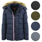 Mens Parka Jacket Heavyweight Warm Insulated Waterproof Polyester Hooded NWT NEW