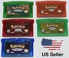 Pokemon Games Emerald Fire Red Leaf Green Ruby Sapphire GBA Gameboy Advance Game