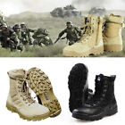Mens Leather Military Tactical Deployment Boot SWAT Boots Duty Work Shoes New