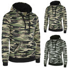 Sweat À Capuche Hommes Pull Slim Fit Jersey Camouflage Militaire Veque