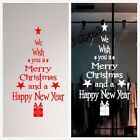 Cool Merry Christmas & New year Decoration Tree Wall Stickers Window Vinyl Decal
