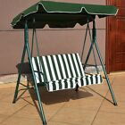 Home Garden Love Seat Swing with Patio Canopy Rest Bench 55