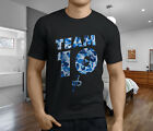 New Popular Jake Paul Team 10 Blue Camo Mens Black T-Shirt S-3XL