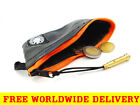 ORANGE COIN PURSE Wallet from Eco Reclaimed Bicycle Inner Tube + FREE DELIVERY