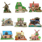 3D Wooden Puzzle DIY Building Model Dollhouse Style House Jigsaw Puzzle For Kids