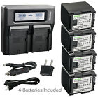 Kastar Battery Dual LCD Fast Charger for Canon BP-819 CG800 Canon VIXIA HF M406