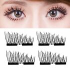 Magnetic 3D Eyelashes Reusable Long False Eye Lashes Makeup Extension 2-200PaJZ günstig