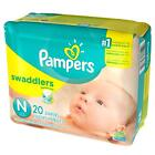 Kyпить Pampers Swaddlers Diapers, Size Preemie Newborn 1 2 3 4 5 6 - PICK ANY SIZE на еВаy.соm