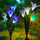 LED Solar Decorative Lights for Garden Patio Backyard 8 Lily Flower Multi-color
