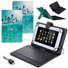 For Amazon Kindle Fire 7/HD 7 8 10 Blue Ocean Leather Case Cover WITH Keyboard
