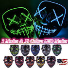 LED Light Mask Up Funny The Purge Election Year Great Cosplay Halloween Lot USA9
