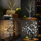1.2M 48LED Silver Birch Twig Tree Warm Light White Branches with 8 Functions Hot