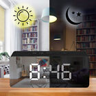 Digital Snooze LED Alarm Clock Temperature Night Light Mirror Display HOT 2018