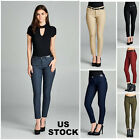 Women Skinny Pants Jeggings Cigarette Causal Formal Trousers Belted