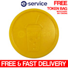 EMBOSSED PLASTIC TOKENS YELLOW SOFT DRINK WEDDING BAR PARTY EVENT