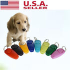 Pet Dog Cat Puppy Click Training Clicker Interactive Obedience Aid Whistle New