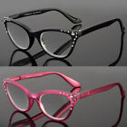 Women Classy Elegant Retro CAT EYE READING EYE GLASSES READERS Bling Black Frame
