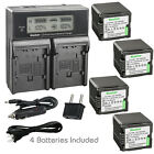 Kastar Battery LCD Dual Fast Charger for Panasonic VBG260 HDC-TM700 HDC-TM700K