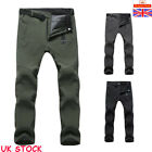 Men's Winter Warm Thick Fleece WaterProof Thermal Trousers Outdoor Hiking Golf