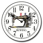 Sewing Room Whisper Quiet Wall Clock Classical Decor Sewing Machine Print