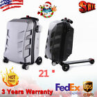 21'' Suitcase Scooter PC Carry Trolley Luggage Skateboard Rear Brake Travel Bag