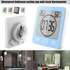 Waterproof Alarm Clock Thermometer Bathroom Suction Cup Shower Countdown Timer