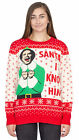 Adult Unisex Elf Buddy Santa I Know Him Pattern Ugly Christmas Sweater