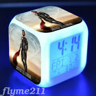 Justice League Alarm Clock Color Changing LED Night Watch Student Gift