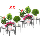 4-60PCS Metal Outdoor Indoor Pot Plant Garden Decor Flower Rack Wrought Iron AP