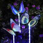3X Outdoor Multi-Color Changing Garden Fiber Optic Butterfly Solar Stake Lights