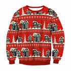Mens Womens UGLY Christmas Sweater President Trump Xmas Knitted Pullover Top
