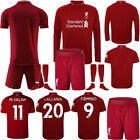 New Kids Boy Football Short Long Sleeve Kit Jersey Full Kit Soccer Sports Outfit