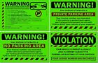 Внешний вид - Green Sticker Lots 50, 25 or 10 Violation Warning No Parking Private Towing Auto