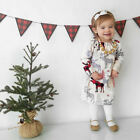 US Newborn Baby Girl Christmas Xmas Princess Party Dress Outfit Clothes Age 1-6Y