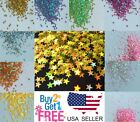 STAR Glitter  Multi Colors Nail Holographic Glitter Art Acrylic Gel Free shipping