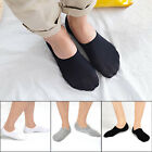 3Pairs Men's Invisible No Show Nonslip Loafer Boat Ankle Low Cut Cotton Socks US