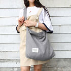 Women Vintage Canvas Hobo Bag Large Tote Messenger Shoulder Purse Zip Handbag US image