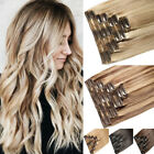 170g extra thick double weft real 100 clip in human hair extensions highlight