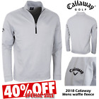CALLAWAY GOLF JUMPER GOLF FLEECE 1/4 ZIP PULLOVER MENS WAFFLE FLEECE NEW 40% OFF